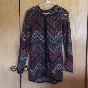 Autumn Tenyl sheer hooded tunic